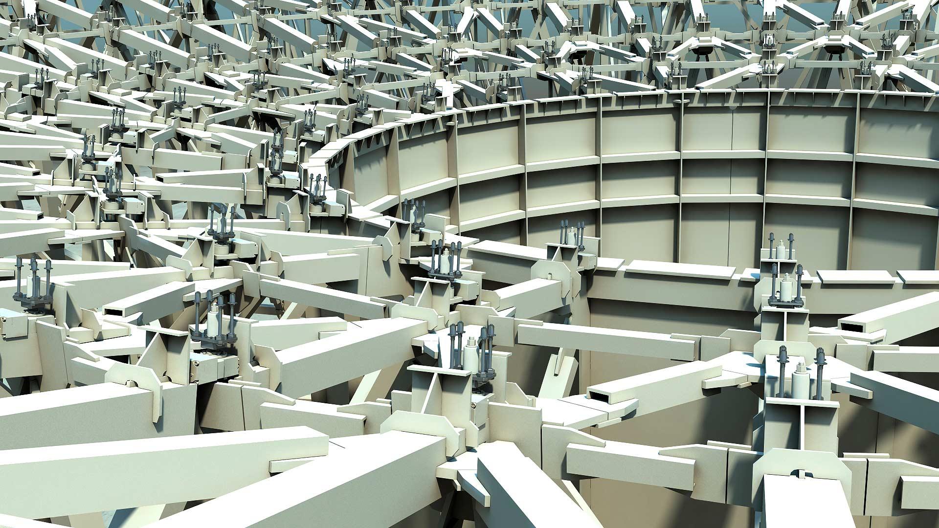 Sardinia Radio Telescope 3D Renderingstudio