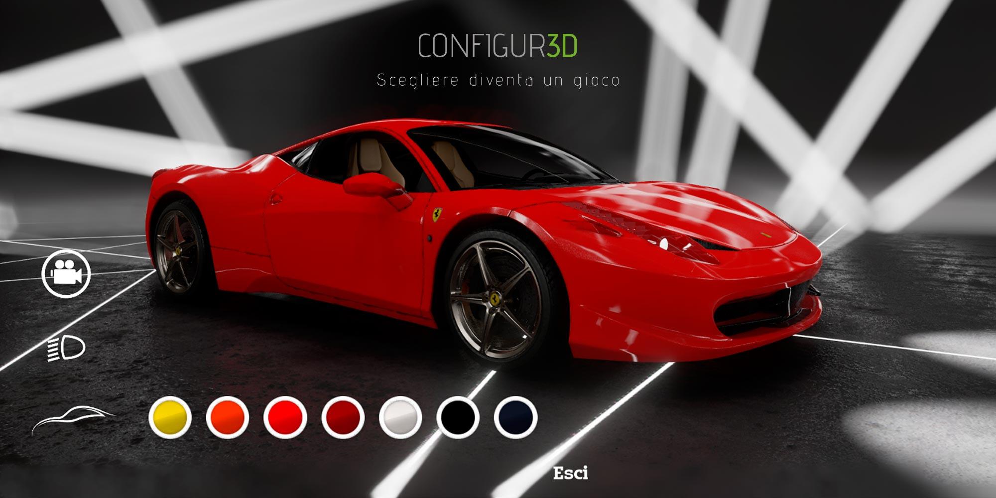 Renderingstudio Ferrari